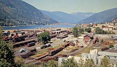 CP, Nelson, British Columbia, 1973 Overview of Canadian Pacific Railway at Nelson, British Columbia, on July 13, 1973. Photograph by John F. Bjorklund, © 2015, Center for Railroad Photography and Art. Bjorklund-36-18-04