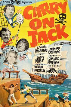 Carry On Jack (1963)  Movie Posters https://www.youtube.com/user/PopcornCinemaShow