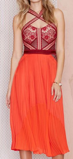 Red dress women fashion outfit clothing style apparel @roressclothes closet ideas