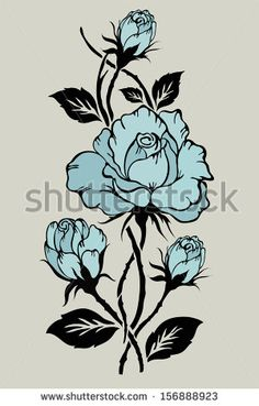 Rose motif pattern hand drawn vector