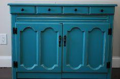 Kara's Korner: Furniture Makeover : Sewing Machine Cabinet