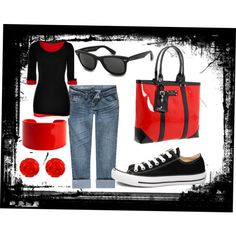 Black & Red, created by redhddstpchld on Polyvore