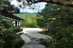 Konchi-in Zen Garden  One of Nanzen-ji's many sub-temples, Konchi-in, contains a beautiful dry stone garden in the crane and tortoise style by Kobori Enshu.
