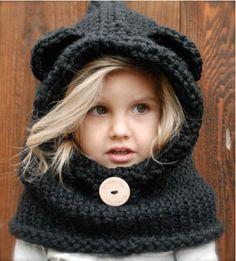 Burton Bear Cowl Benodigde materialen: • US 15 (10 mm), 24 inch rondbreinaald (volwassen grootte) • US 13 (9 mm) 24 inch rondbreinaald (kind, peuter, 12/18 maanden) • VS 13 (9 mm) 16 inch rondbreinaald (3/6, alleen 6/9 maanden) • US 11 (8 mm) breinaalden zonder knop (voor gebreide oren) • Het Amerikaanse maat …