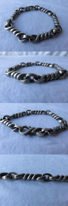 Bracelets 137835: David Yurman Mens .925 Sterling Silver Cable Twisted Link Matte Bracelet $895 BUY IT NOW ONLY: $625.0