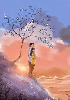 Ideas Wallpaper Couple Art For 2019 Love Cartoon Couple, Cute Couple Art, Cute Love Cartoons, Anime Love Couple, Couple Drawings, Love Drawings, Drawing Pictures, Love Wallpapers Romantic, Cute Couple Wallpaper