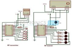 Circuit Diagram of Remote Control Circuit Through RF Without Microcontroller