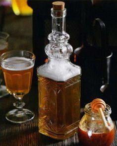 "Mead is fermented honey wine."" I have made mead more than a few times, it is worth the work, but it needs as much aging as good wine. Cocktails, Alcoholic Drinks, Beverages, Fermented Honey, How To Make Mead, Mead Recipe, Honey Wine, Wine Making, Making Mead"
