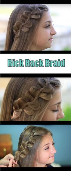 Quick And Easy Hairstyles For School : Best Hair Braiding Tutorials  Rick Rack Braid Cute Girls Hairstyles  Step By S