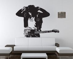 Bruce Springsteen Art Wall Vinyl Decal WD0481 by srisupa on Etsy