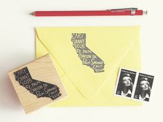Paper Pastries just launched return-address stamps in the shape of U.S. states.…