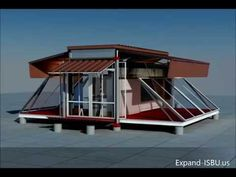 Small Container Transformed Into a Real Home-EBS Block- Expandable Building System Block Building A Container Home, Container Cabin, Container Buildings, Container Architecture, Mobile Architecture, Shipping Container Design, Shipping Containers, Casas Containers, Building Systems
