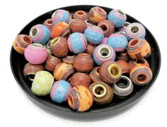 Free Tutorial of how to make Pandora Inspired Paper Beads