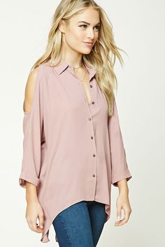 Contemporary High-Low Hem Shirt | Forever 21 - 2000192133