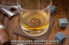Groomsmen Gift Personalized Whiskey Glasses Custom Whiskey