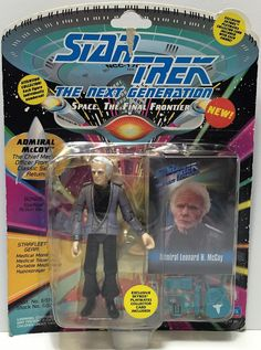 (TAS034819) - 1993 Playmates Star Trek The Next Generation Figure Admiral McCoy