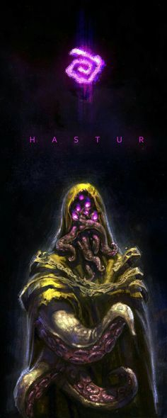 Hastur (by Zack Ren) Lovecraft Cthulhu, Hp Lovecraft, Yog Sothoth, Science Fiction, Lovecraftian Horror, Eldritch Horror, Call Of Cthulhu, Westerns, Horror Art