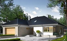 Projekt domu jednorodzinnego KA37 (IN95) | wybieramprojekt.pl Marcel, Home Fashion, House Plans, House Styles, Gallery, Outdoor Decor, Home Decor, Traditional Homes, Decoration Home