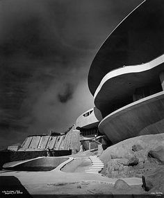 John Lautner's Arango House in Acapulco, Mexico. Photographed by Julius Shulman