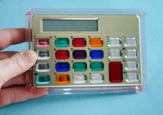 You know you had one!!!!  Vintage 1990s GEM JEWELED Calculator WORKS by GadzinasHamper, $18.00
