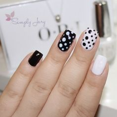Preppy dots adorn this nail art by Preen.Me VIP Jahaira using her gifted OPI 2 Icons Nail Lacquer in Funny Bunny. Click through to bag this classic. Square Nail Designs, Gel Nail Art Designs, Nail Art Designs Videos, Dot Nail Art, Polka Dot Nails, Polka Dots, Stylish Nails, Trendy Nails, Simple Gel Nails