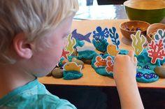 Printable sea creatures for ocean play dough play