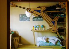 Cardboard is the material for the furniture, from Terra Politica blogger/architect.