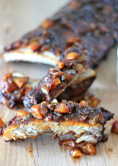 Baby Back Ribs with Balsamic Peach BBQ Sauce