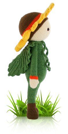 Sunflower Sam - crochet amigurumi pattern by Zabbez / Bas den Braver