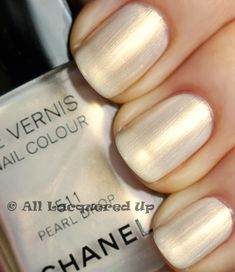 Chanel pearl drop nailpolish  A brides best friend!  This is a classy and beautiful neutral colour for your nails.