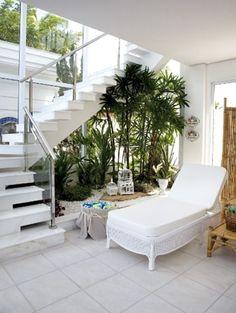 Discover ideas about glass stairs. under stair garden 88 5 amazing interior landscaping Garden Stairs, House Stairs, Loft Stairs, Basement Stairs, Stairs In Kitchen, Glass Stairs, Inside Garden, Minimalist Garden, Stairs Architecture