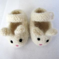 knit bunny booties.  so sweet...