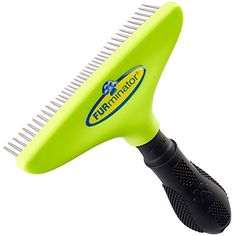 FURminator Pro Long Dog Hair Brush for Undercoats Comb Dematting Tool with Rotating Teeth Grooming Rake Separates and Untangles Fur in Long Dense Coats 4 inch Wide Head *** Be sure to check out this awesome product. (Note:Amazon affiliate link)