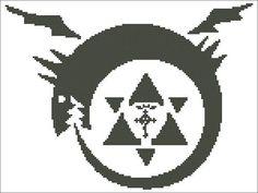Ouroboros: Fullmetal Alchemist / FMA Anime Cross Stitch Pattern