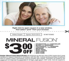 Facebook offer: $3 off Mineral Fusion Product Printable Coupon  https://www.facebook.com/mineralfusion?sk=app_107611949261673