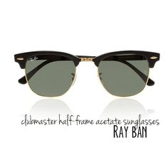 #RAY-BAN #Clubmaster half-frame #acetate #sunglasses, $145.00