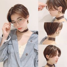 Girls Short Haircuts, Short Hairstyles For Thick Hair, Girl Short Hair, Short Hair Cuts, Tomboy Haircut, Tomboy Hairstyles, Cool Hairstyles, Blonde Hair Korean, Korean Short Hair