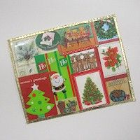 Recycled Christmas Card Placemats Craft