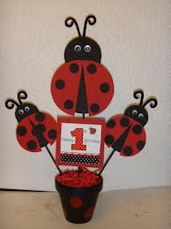 lady bug centerpieces - Google Search