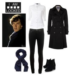 """Sherlock!"" by quata ❤ liked on Polyvore featuring Aquascutum, Loveless, rag & bone, Roberto Cavalli and Topshop"