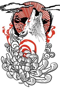 japanese tattoos for men - japanese tattoo Japanese Tattoo Words, Japanese Tattoo Meanings, Japanese Tattoos For Men, Japanese Tattoo Designs, Japanese Sleeve Tattoos, Wolf Tattoos, Body Art Tattoos, Men Tattoos, Phoenix Tattoos