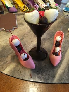 Edible high heels and martini glass