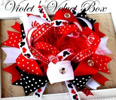 Minnie Mouse Hair Bow  Luxurious Boutique Bow by VioletsVelvetBox, $9.99