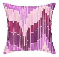Trina Turk Residential Linen Embroidered Pillow, Loomis, Purple  Consider decorating with purple accents if you love the look of purple home decor. It does not matter if you like violet, lavender, lilac, amethyst or more of a muave purple. Rest assured you will find your perfectly purple paradise.   I love the look of purple modern wall art, purple accent pillows and trendy purple decorative accents to spread all over my home.  This works well with my ultra modern home decor scheme however I