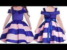 DIY Designer Party Wear Baby Frock Cutting And Stitching Full Tutorial Baby Frock Pattern, Frock Patterns, Kids Dress Patterns, Designer Blouse Patterns, Sewing Patterns, Baby Frocks Party Wear, Baby Girl Frocks, Baby Girl Party Dresses, Frocks For Girls