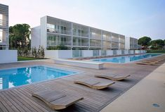 Beach front apartments in Lido Di Jesolo, Italy by Richard Meier