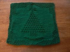 Hand Knit Holiday Tree All Cotton Picture Dishcloth or Washcloth - by --- This hand knit holiday tree is here just in time for Christmas. This pretty green, hand knit, cotton, Christmas tree, picture cloth Knitting Squares, Dishcloth Knitting Patterns, Knit Dishcloth, Knit Patterns, Hand Knitting, Loom Knitting, Christmas Countdown, Christmas In July, Cotton Pictures