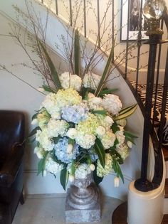 A fabric launch, a beautiful house, and lovely flowers