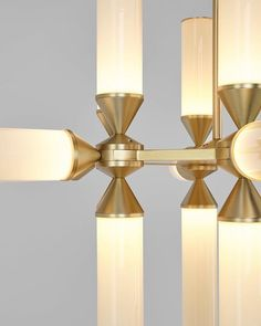 CR= DETAIL - Castle Chandelier (Brass/Cream). Light designed by Jason Miller for Roll & Hill