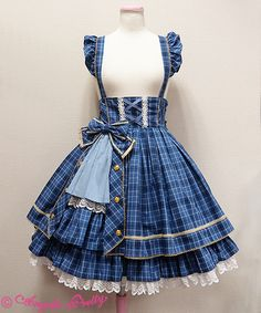 Angelic Pretty Tartan Holic Skirt. Remove the straps to make it a skirt rather than a dress.